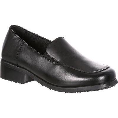 SlipGrips Womens Black Slip-Resistant Work Shoe
