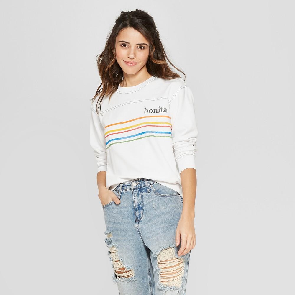 Women's Bonita Graphic Sweatshirt - Freeze (Juniors') White S