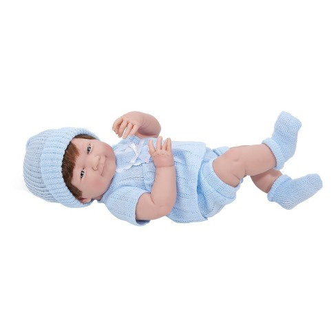 "JC Toys La Newborn 15"" Brown Hair Boy Doll - Blue Outfit - image 1 of 1"