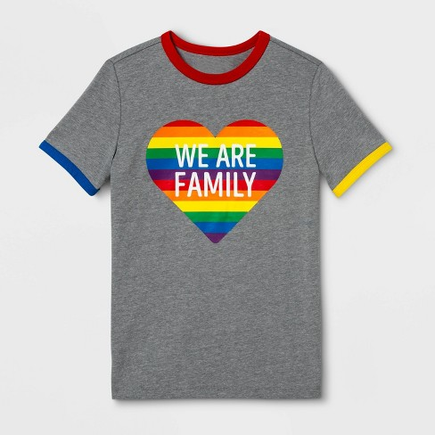 Pride Gender Inclusive Kids' We Are Family Graphic T-Shirt - Heather Gray - image 1 of 1