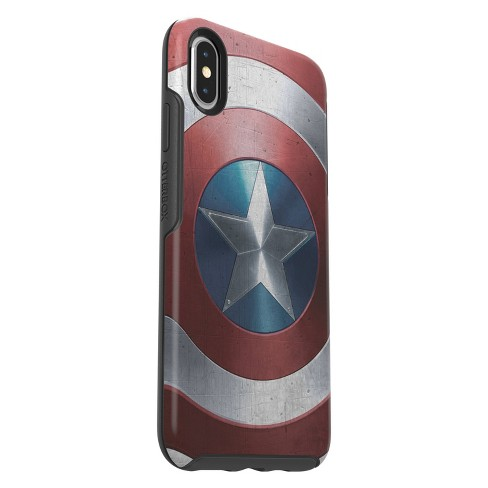 huge selection of 3b2e3 d14a0 OtterBox Apple iPhone XS Max Marvel Symmetry Clear Case - Captain America