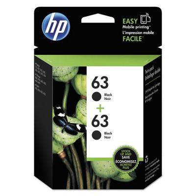 HP 63 Single Original Ink Cartridge - Black (HEWT0A53AN)