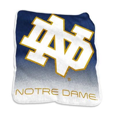 NCAA Notre Dame Fighting Irish Logo Brands Raschel Throw Blanket