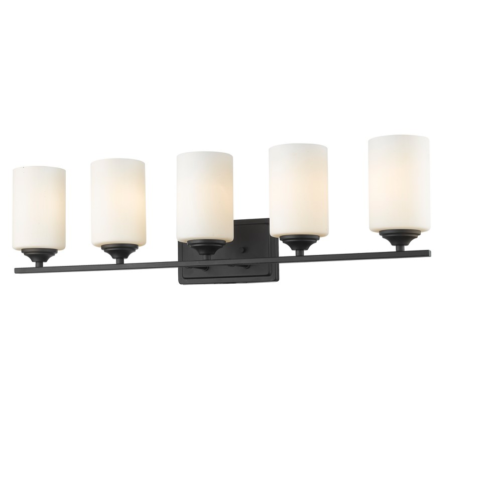 Vanity Wall Lights with Matte Opal Glass (Set of 5) - Z-Lite, Silver