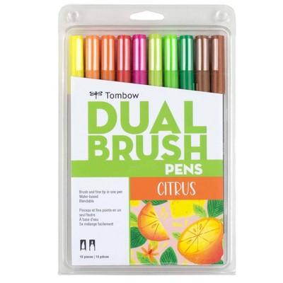 Tombow 10ct Dual Brush Pen Art Markers - Citrus