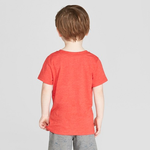33d665e0f Toddler Boys' Short Sleeve Baseball Shark T-Shirt - Cat & Jack™ Red ...