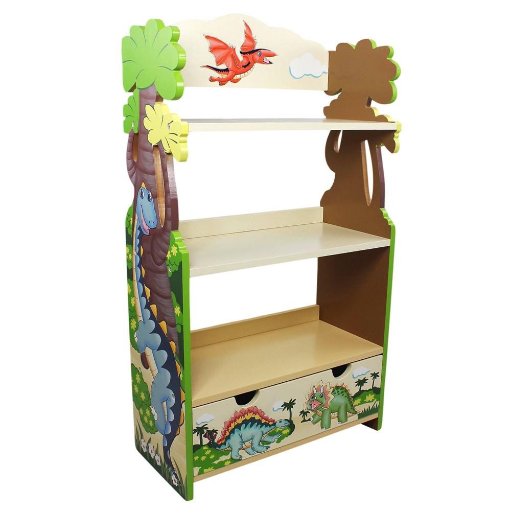 Image of Dinosaur Kingdom Fantasy Fields Bookshelf - Teamson Kids