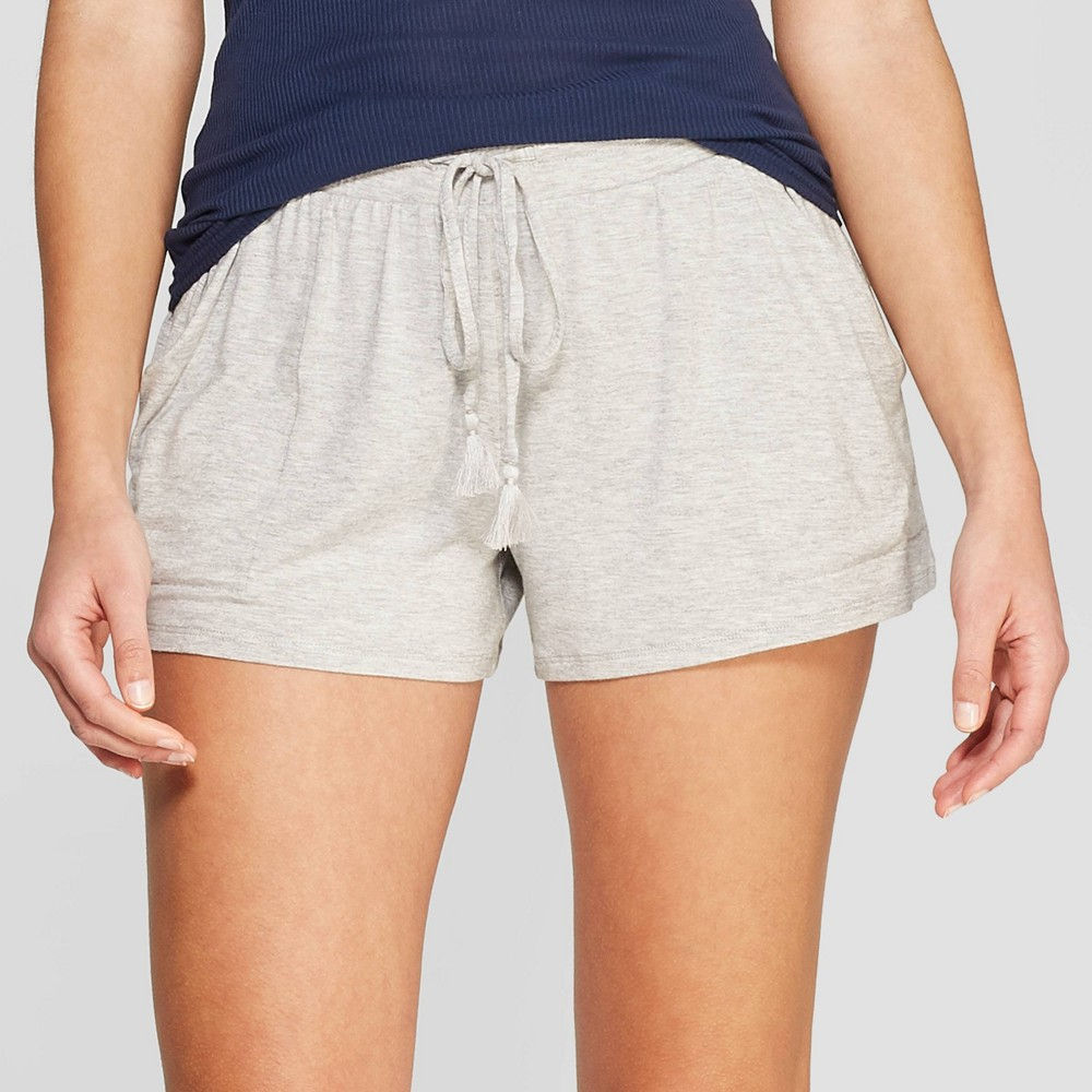Women's Beautifully Soft Pajama Shorts - Stars Above Gray S