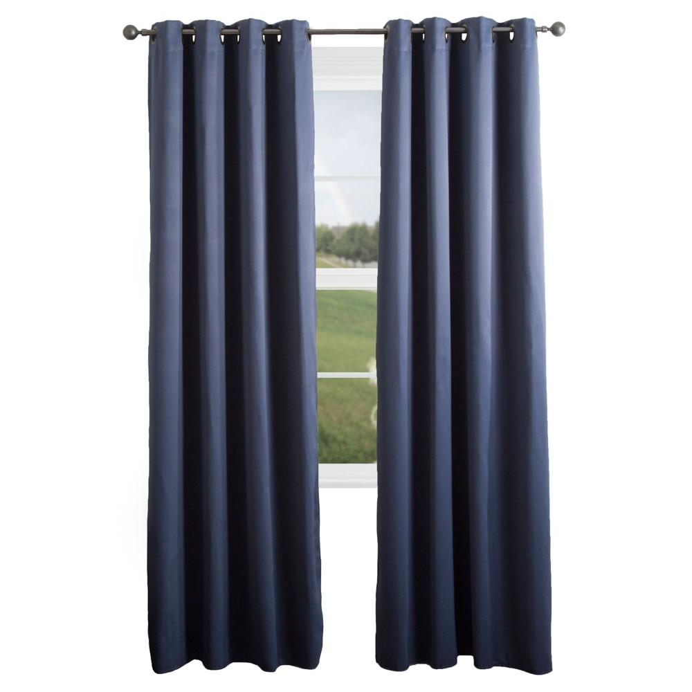 Blackout Grommet Curtain Panel Blue 84