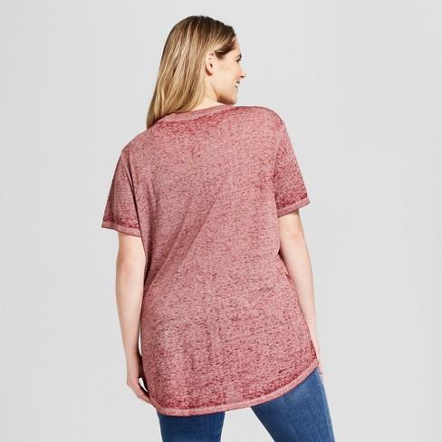 a10d1956 Women's Gilmore Girls Plus Size Short Sleeve Crew Neck T-Shirt (Juniors') -  Burgundy : Target