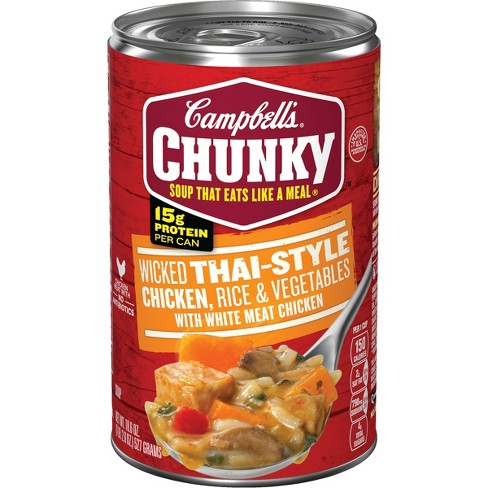 Campbell's® Chunky™ Wicked Thai-Style Chicken with Rice & Vegetables Soup 18.6 oz - image 1 of 5