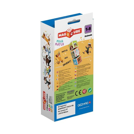 Geomag Magicube Animals, magnetic building sets image number null