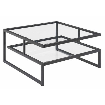 Royal Crest Stripes Coffee Table Charcoal Gray - Breighton Home