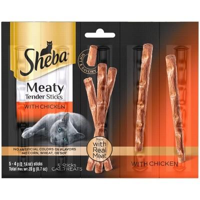 Sheba Meaty Tender Sticks with Chicken Jerky Cat Treats - 0.7oz