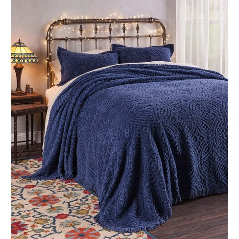 Wedding Ring Tufted Chenille Bedspread, Queen Size - Plow & Hearth - image 1 of 2