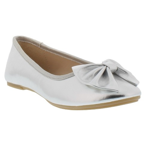 Girls' Sam & Libby Vanessa Icon Metallic Ballet Flats - image 1 of 4