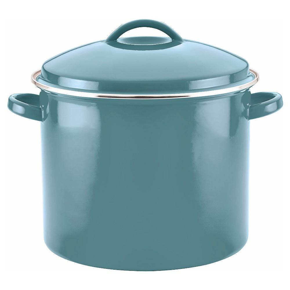 Image of Farberware 16qt Porcelain Enamel Covered Stock Pot Aqua