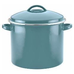 Farberware 16qt Porcelain Enamel Covered Stock Pot Aqua