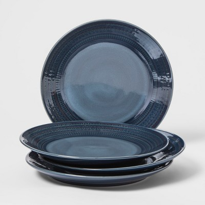 Kingsland Stoneware Dinner Plate 10.5  Blue - Threshold™