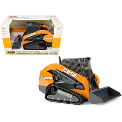 """Case TV450B Compact Track Loader Orange and Dark Gray """"Case Construction"""" Series 1/16 Diecast Model by ERTL TOMY"""