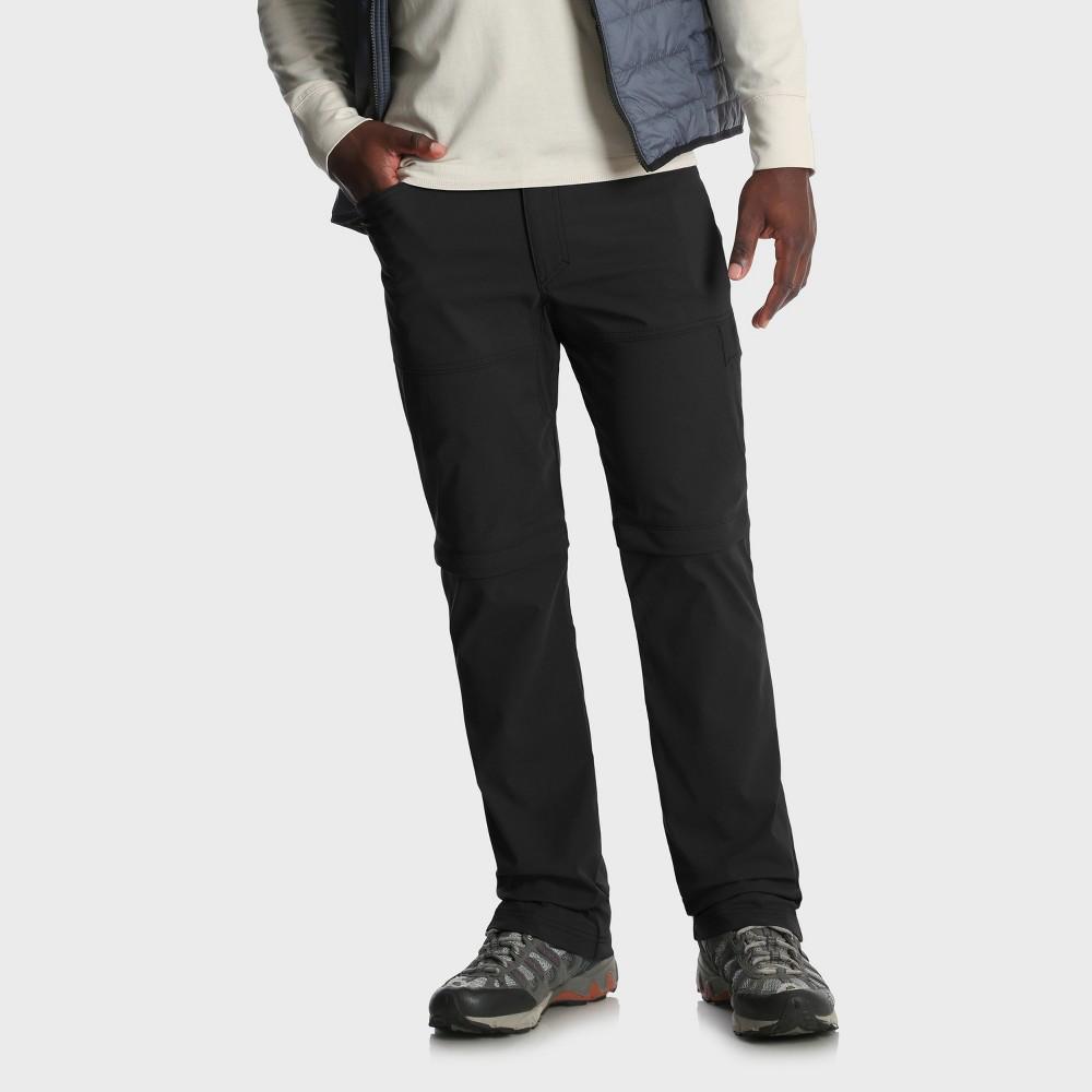 Wrangler Men's Outdoor Oatman Zip Off Pants - Black 34x34