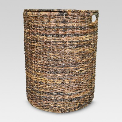 Wicker Hamper - Dark Global Brown - Threshold™