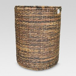"Wicker Hamper Dark Global Brown 25""x13""x20"" - Threshold™"