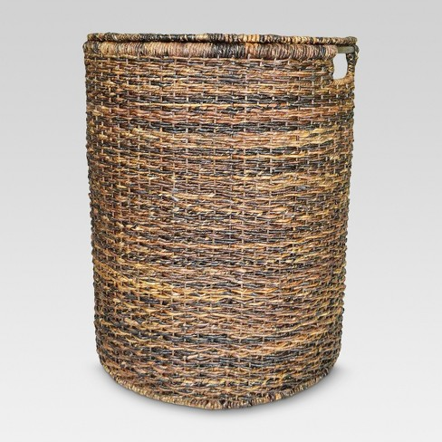 Wicker Hamper - Dark Global Brown - Threshold™ - image 1 of 2