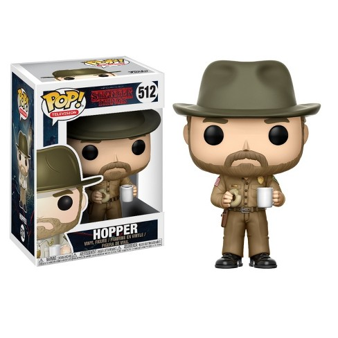 Funko POP! Television: Stranger Things S2- Hopper with Donut Vinyl Figure - image 1 of 1
