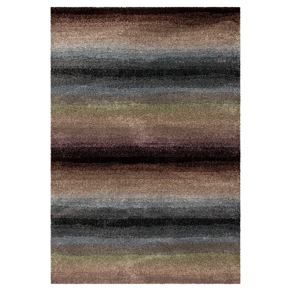Multicolor Abstract Woven Area Rug - (5'3