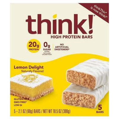 think! High Protein Lemon Delight Bars - 2.1oz/5ct