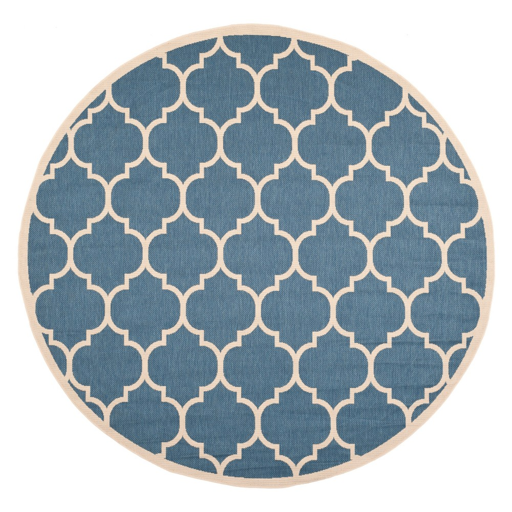 Buy 710 Round Malaga Outdoor Rug Blue Beige - Safavieh