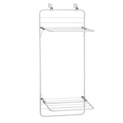 mDesign Collapsible Foldable Laundry Drying Rack, 2 Shelves