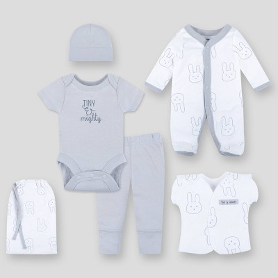 Lamaze Baby Organic Cotton Layette Set - Gray Preemie