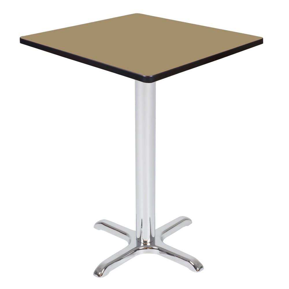 30 Via Cafe High Square X - Base Table Gold/Chrome (Gold/Grey) - Regency