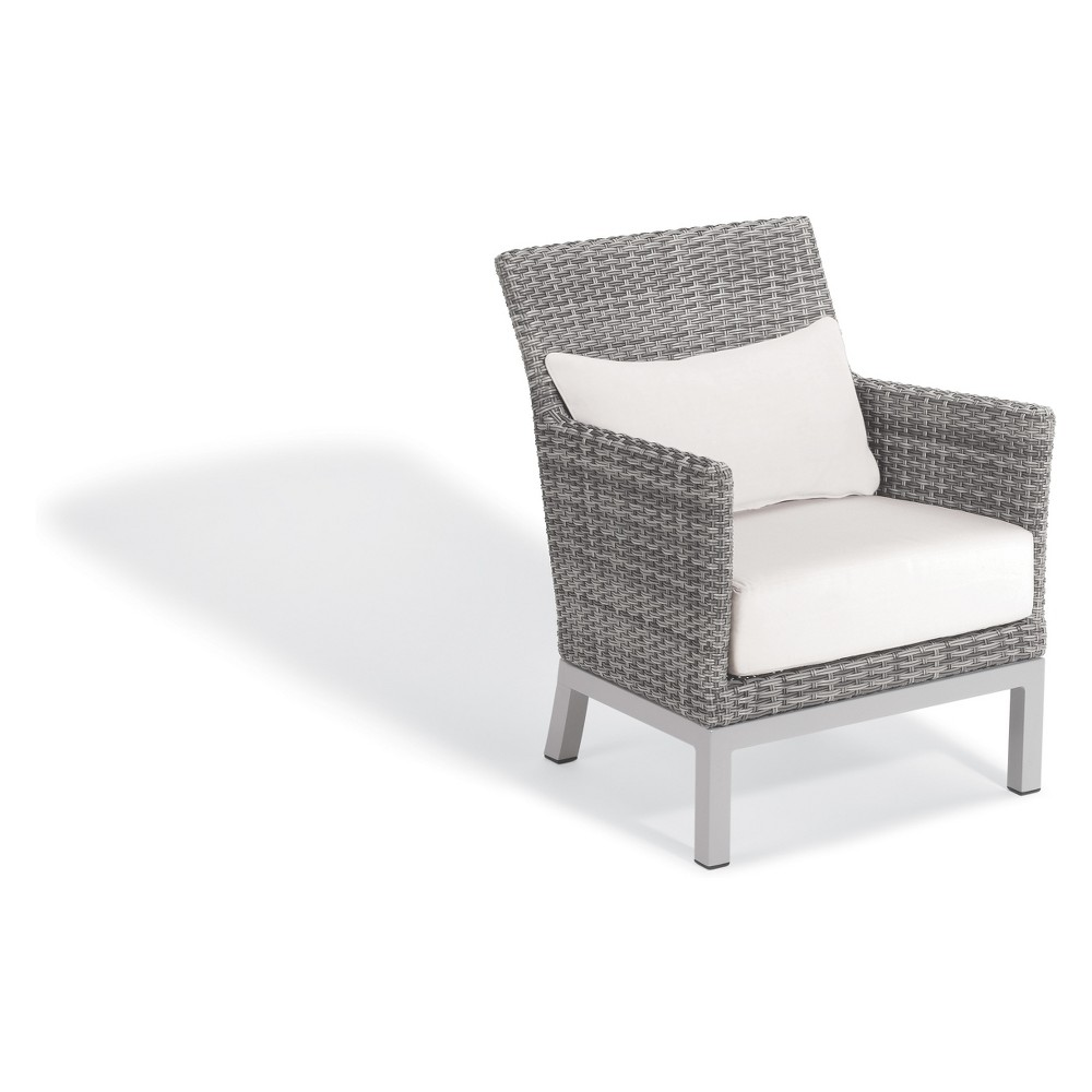 Argento Club Chair with Lumbar Pillow Eggshell White - Oxford Garden