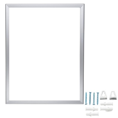 SnapeZo Aluminum Front Loading Snap Poster Frame w/ UV Protection and No Glass for Large Pictures, Gallery Photos, & Prints, 22 x 28 Inches, Silver