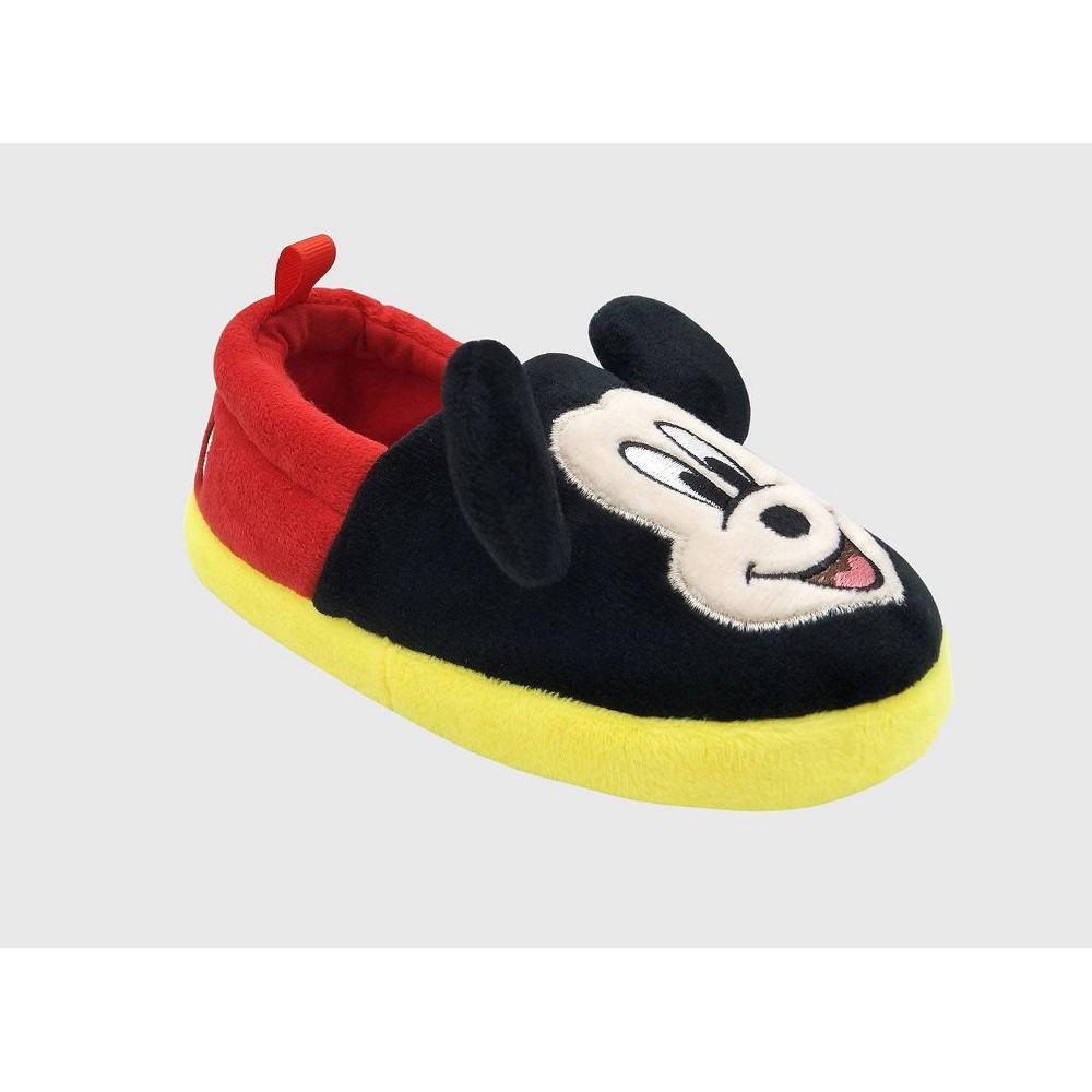 Image of Toddler Boys' Disney Mickey Mouse Loafer Slippers - Red L(9-10), Boy's, Size: Large (9-10)