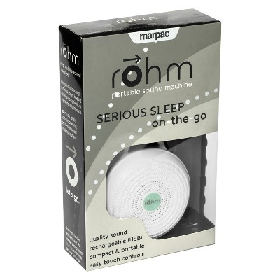 Rohm By Marpac Portable White Noise Sound Machine - White