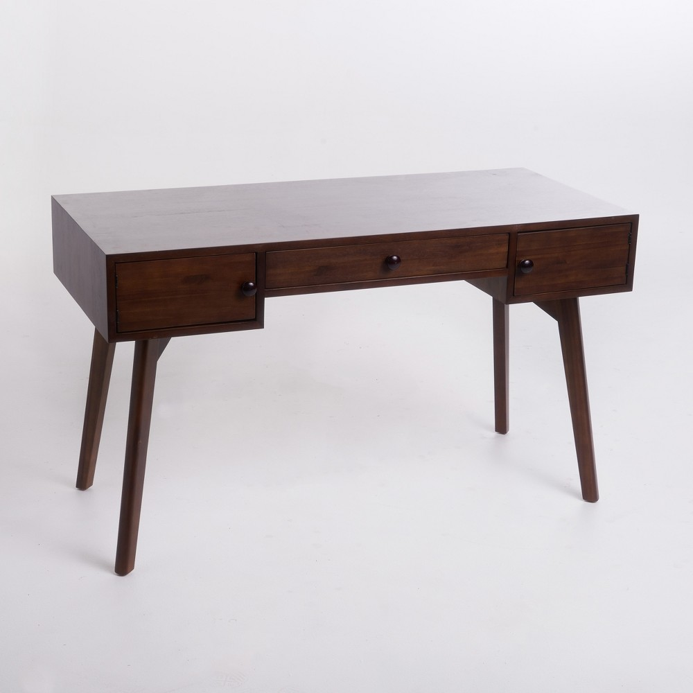 Quintus Acacia Wood Desk Walnut (Brown) - Christopher Knight Home