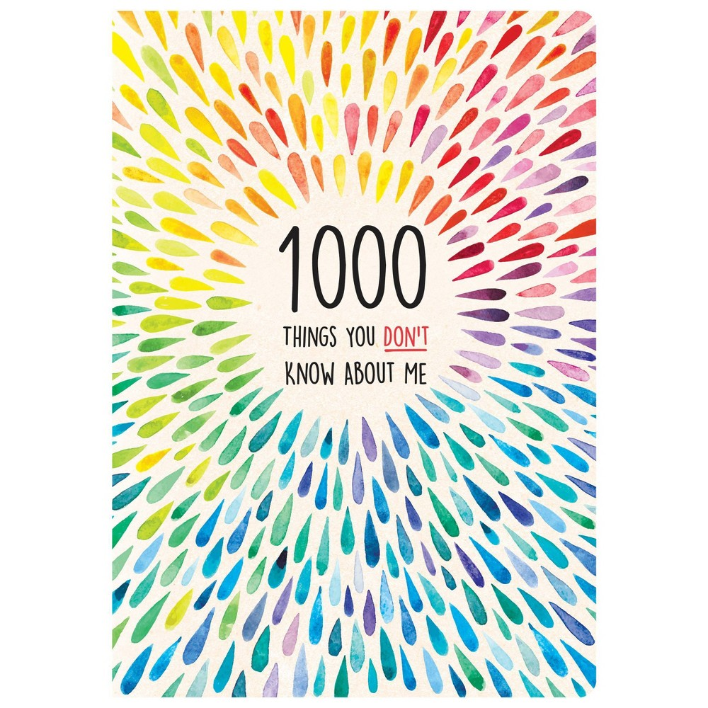 1000 Things You Don 39 T Know About Me Activity Journal Piccadilly