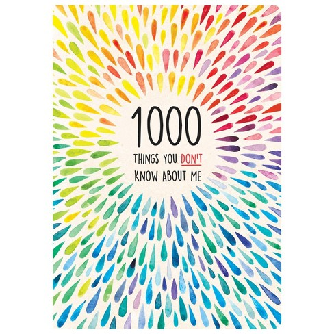 1000 Things You Don't Know About Me Activity Journal - Piccadilly - image 1 of 4