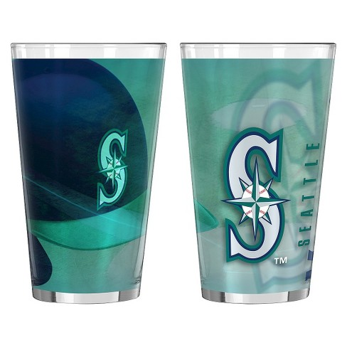 Boelter Brands MLB Seattle Mariners Set of 2 Shadow Pint Glass - 16oz - image 1 of 1