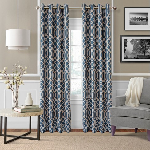 Harper Blackout Window Curtain Panel - Elrene Home Fashions - image 1 of 4