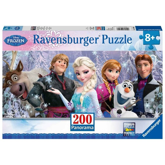 Ravensburger Frozen Friends Panorama Puzzle 200pc, Kids Unisex image number null