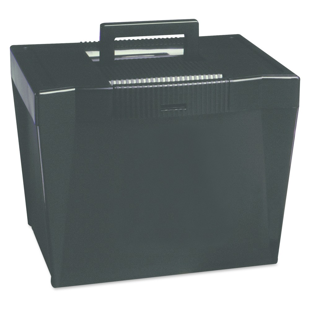 Pendaflex Portable File Storage Box, Letter, Plastic, 13 1/2 x 10 1/4 x 10 7/8, Black