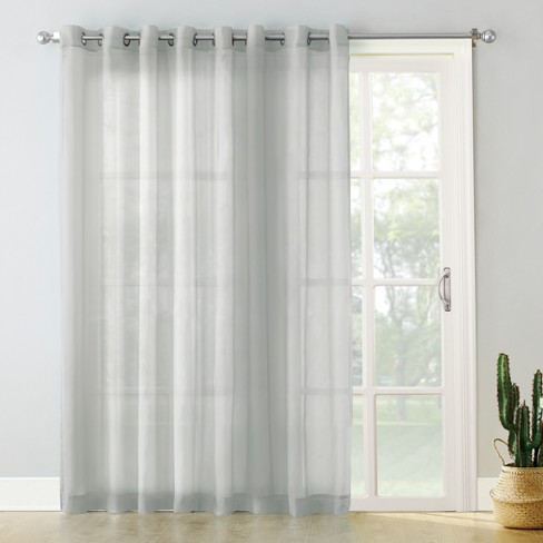 Emily Extra Wide Sheer Voile Sliding Door Patio Curtain Panel Silver 100 Quot X84 Quot No 918 Target
