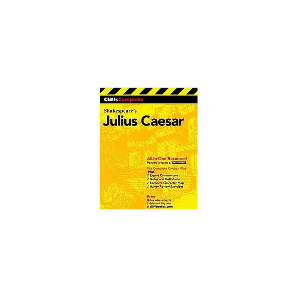 Cliffscomplete Julius Caesar Cliffs Complete By William Shakespeare Paperback