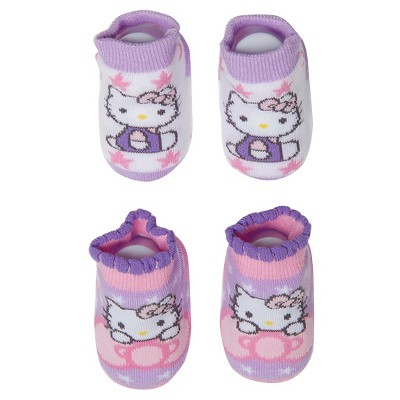 Baby Girls' Hello Kitty Socks - Purple & Pink 6-12M