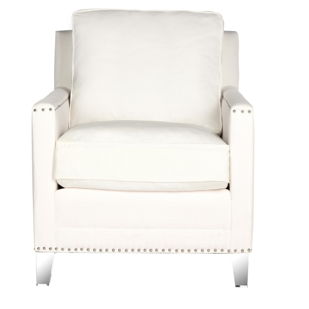 Accent Chairs White Clear - Safavieh